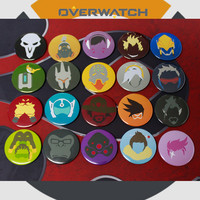 2016 Game Overwatch Brooch Tracer Reaper OW Brooches Blizzard Entertainment Badge