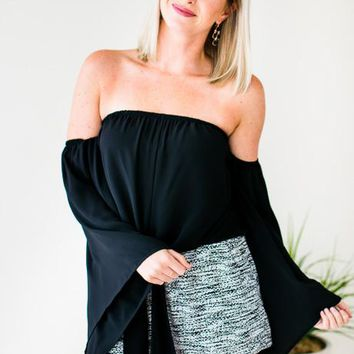 Forever Young OTS Tie Top in Black