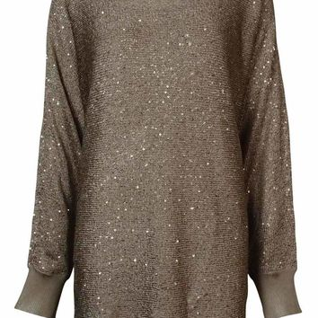 Alfani Women's Metallic Sequined Dolman Sweater