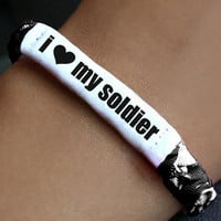Personalized Military Support Bracelet  Army by MilitaryHeartTees