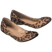 Women's Mossimo Supply Co. Ona Side Scrunch Ballet Flat - Animal Print