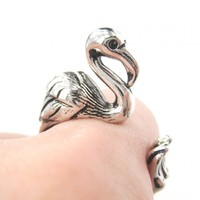 Flamingo Animal Wrap Around Bird Hu..