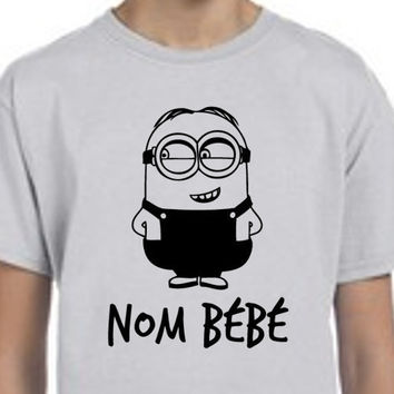 Minions // Nom Bebe // Despicable Me // Boys Tee Shirt // Multi Colors and Sizes Available