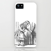 Vintage Alice in Wonderland 'looking for the door' antique book drawing emo goth fantasy gothic iPhone & iPod Case by iGallery
