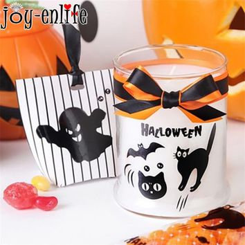 80pcs Halloween Cute Black Pumpkin Kawaii Ghost Bat Cat DIY Handmade Labels Stickers Halloween Funny Decorative Gift Stickers