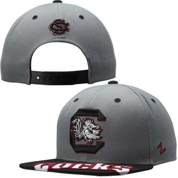 South Carolina Gamecocks Zephyr Crosscut Snapback Adjustable Hat – Gray