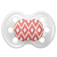 Tribal Ikat Chevron Baby Pacifier from Zazzle.com