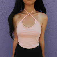 alexxxa cross halter top