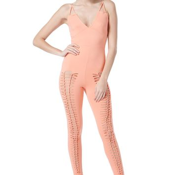 Bright Braided Stretch Knit Jumpsuit