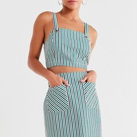 UO High-Rise Striped Mini Skirt | Urban Outfitters