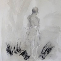 Saatchi Art: Barefoot Drawing by Frederic Belaubre