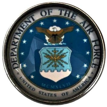 Air Force Military Snap Charm 20mm for Snap Jewelry