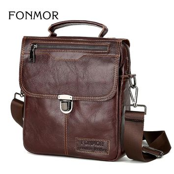 Brand Men's Handbags Vintage Genuine Leather Shoulder Bags High Quality Briefcase For Men Business Tote ipad New Crossbody Bags