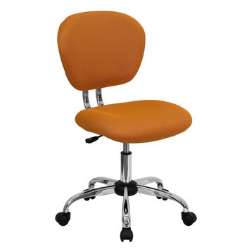 Mid-Back Modern Office / Desk Chair in Orange Mesh
