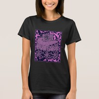 Cowgirl with Flowers Two Tone Purple T-Shirt