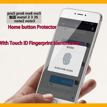With Touch ID Fingerprint Identification For Meizu MX6 MX5 Pro6 Pro5 Metal Note2 Note3 2 3 3S  Home Button Protective Sticker