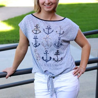 Anchor Knit Tie Top