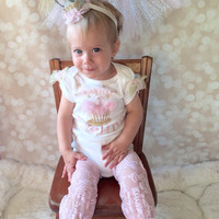 Smash Cake Outfit Personalized for Baby Girl - LOTS of  Color Combinations Available