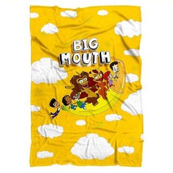 Big Mouth Flying Banana Blanket