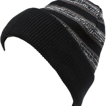 Sakkas Cabbey Mid Weight Striped Multi Colored Ribbed Knit Unisex Beanie Hat