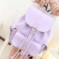Purple Lavender Pull Tie Backpack