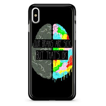 Fake You Out Twenty One Pilots Brains iPhone X Case