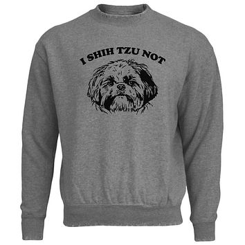 I Shih Tzu Not Mens Destroyed Sweatshirt