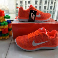 """""""Nike"""" Fashion Casual Unisex Breathable Comfortable Fly Weave Couple Sneakers Running"""