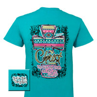 Girlie Girl Originals Christ Aztec Cross Christian Bright T Shirt