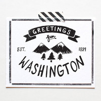 Greetings from Washington State Print