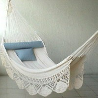Nicamaka Single Hammock - Ecru:Amazon:Patio, Lawn & Garden