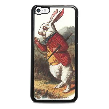 white rabbit alice in wonderland disney iphone 5c case cover  number 1