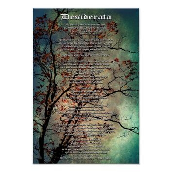 Desiderata Inspirational Mini Art Poster