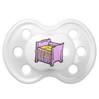 baby crib pink themed graphic yellow mattress baby pacifier