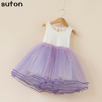 Girls Dresses Summer Tutu Princess Baby Flower Costume Lace Tulle Baby Casual Party Dress For 2-6 Years Kids Dresses For Girls