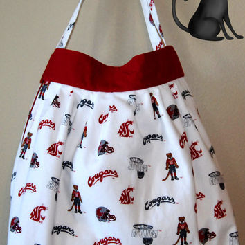 WSU Cougars Small Handbag/Tote by KraftyKreations4You on Etsy