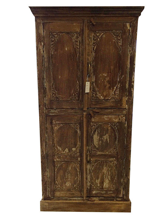 Antique Armoire Furniture Indian Almira From Mogulgallery On Etsy