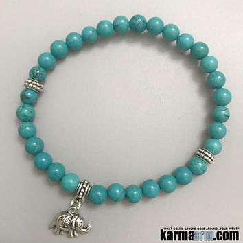 GOOD LUCK | Turquoise | Elephant | CharmBracelet