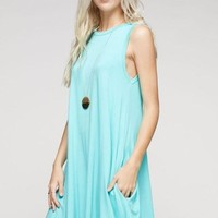 jersey a line pocket dress