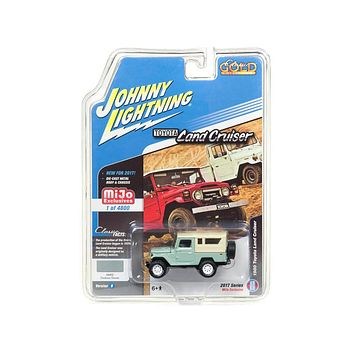 1980 Toyota L& Cruiser Fashion Green Hard Top Classic Gold 1:64