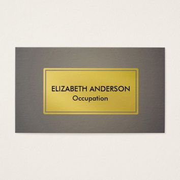 Chic Charcoal Gray Light Blender, Gold Business Card