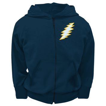 Grateful Dead - Stitched Bolt Navy Youth Zip Hoodie - Youth