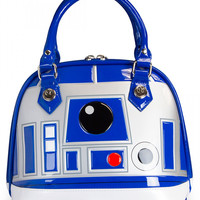 """""""R2D2"""" Patent Dome Bag by Loungefly (White)"""