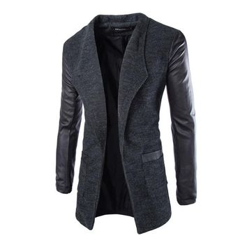 Long Men Winter Casual Coat