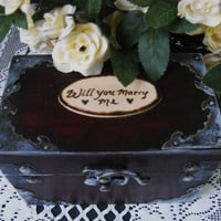 Will You Marry Me Proposal Wedding Ring Box by hanscreations
