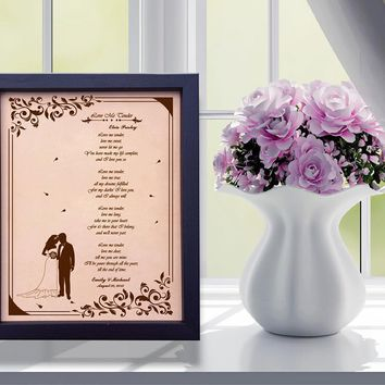 Lik18 Leather Engraved Wedding Third Anniversary Gift Personalized Anniversary Gift wedding First Dance Lyrics