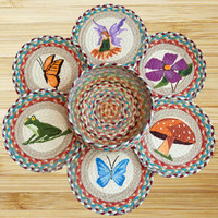 Fairy Round Trivets in a Basket (Set of 7)