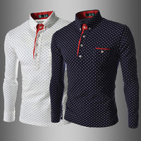 Dot Design Men Slim Fit Polo Tee