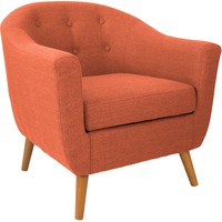 Rockwell Accent Chair, Orange