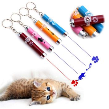 Laser Funny Cat Stick 2 in 1 Red Laser Pointer Pen with White LED Light Children Play Pet Dog Interactive Toys